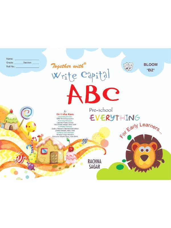 Together With Everything Bloom B2 Write Capital ABC for Class LKG