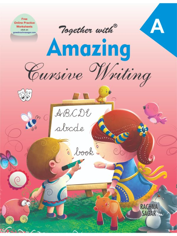 Together With Amazing Cursive Writing A for Nursery