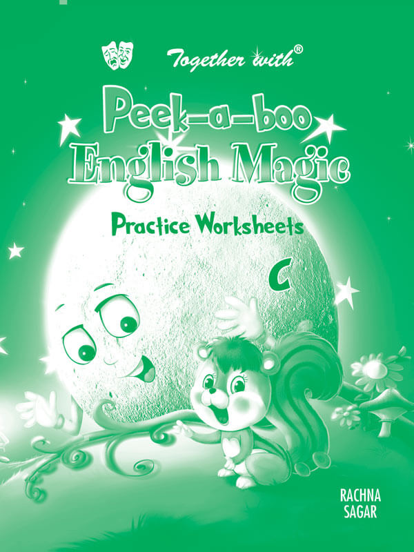 Peek a boo English Magic C Preforated Practice worksheet