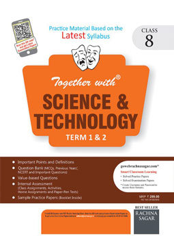 Together with Science & Technology DAV 1 and 2 Term Practice Material for Class 8