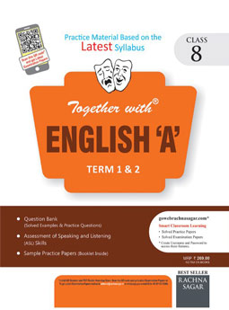 Together with English A DAV 1 and 2 Term Practice Material for Class 8