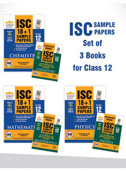 ISC Sample papers Physics,Chemistry & Mathematics for Class 12 for 2020 Exam (Set of 3 books)