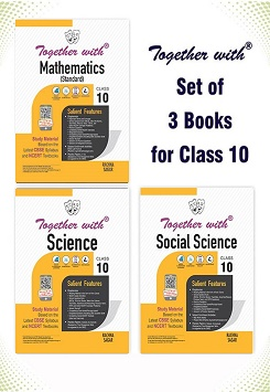 Together with Mathematics (Standard), Science and Social Science Study Material for Class 10 Term I & Term II (For 2021-2022 Examination) (Set of 3 Books)