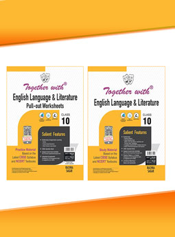 Together with English Language and Literature (Study Material) + Pullout worksheet (Practice Material) for Class 10 Term I & Term II (For 2021-2022 Examination)