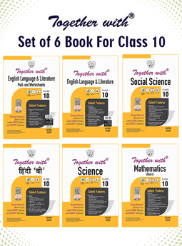 Together with Hindi A, English Language and Literature+Pullout Worksheet, Mathematics (Basic), Science and Social Science Study Material for Class 10 Term I & Term II (For 2021-2022 Examination) (Set of 6 Books)