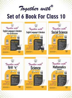 Together with Hindi A, English Language and Literature+Pullout Worksheet, Mathematics (Standard), Science and Social Science Study Material for Class 10 Term I & Term II (For 2021-2022 Examination) (Set of 6 Books)