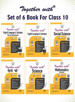 Together with Hindi B, English Language and Literature+Pullout Worksheet, Mathematics (Standard), Science and Social Science Study Material for Class 10 Term I & Term II (For 2021-2022 Examination) (Set of 6 Books)