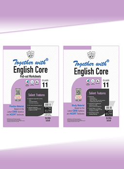 Together with English Core + Pullout worksheet Study Material for Class 11 (Set of 2 Books)