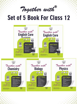 Together with English Core + Pullout worksheet, Physics, Chemistry and Biology Study Material for Class 12 Term I & Term II (For 2021-2022 Examination) (Set of 5 books)