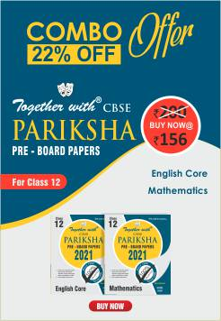 Together with Mathematics & English Core (Pariksha Combo 2021)
