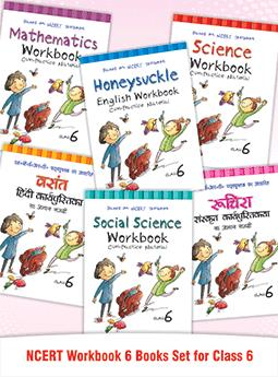 Ruchira, Vasant, Honeysuckle, Math, Science & S.Science NCERT Workbook for Class 6 (Set of 6 Books)