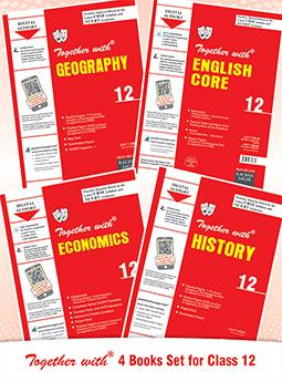 Together with History, Geography, Economics, English Core & Assignment with Solution for Class 12 (Set of 4 Books)